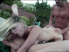 Outdoor sex with a couple of hot blonde chicks tubes