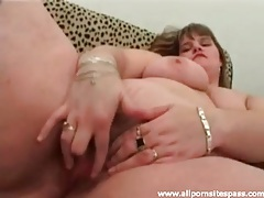 Fat girl masturbating with fingers and dildo tubes