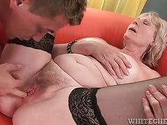 Moaning mature banged in hairy vagina tubes