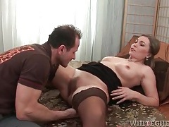 Sexy milf in a pair of stockings licked lustily tubes