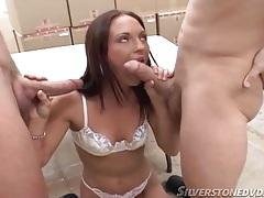 Little white bra on a cute girl sucking dicks tubes