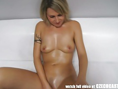 Czech amateur milf gets load to mouth tubes