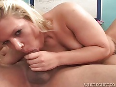 Hairy blonde girl likes to suck dick tubes