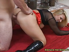 Supersized boobs blonde take a black cock on pink pussy 2 tubes