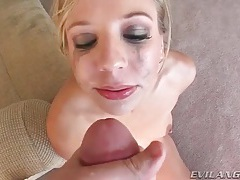 Gagging sluts get their facial cumshots tubes