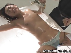 Japanese fucked by a big dildo bondage tubes