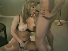 Retro hardcore with a busty girl that loves his cum tubes