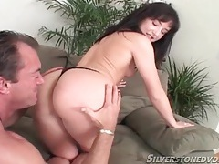 Pretty girl blows him and sits on his shaft tubes