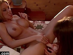 Horny lesbians try 69 for the first time tubes