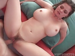 Curvy big boobs mom fucked in hairy vagina tubes
