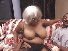 Black guys double team an ebony fatty tubes
