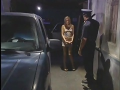 Police officer gets a blowjob from skinny girl tubes