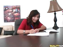 First time porn girl signs contract and gets naked tubes