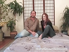 Getting naked with sexy redheaded slut to suck tubes