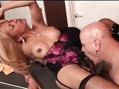 Tranny milf in lingerie and boots anally fucked tubes