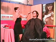 Hairdresser sucks his cock beautifully tubes