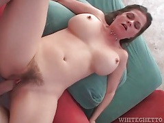 Hairy mom pumped in her gorgeous pussy tubes