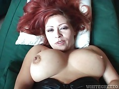 Redhead sits her hard dick on a cock in pov tubes