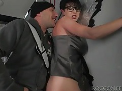 Stripping a sexy girl in glasses naked tubes