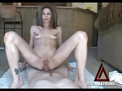 Wicked skinny babe has anal sex on camera tubes