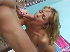 Bikini girl gives head to monster cock outdoors tubes