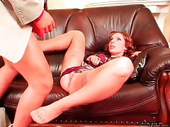 Redhead is sexy in a fully clothed fuck video tubes