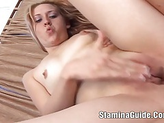 Young amatuer babe fucked in the ass and cum 2 tubes