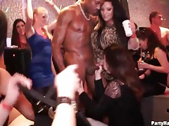 Big black cock sucked by hot chick at party tubes
