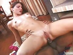 Black cock anally fucks a latina slut tubes