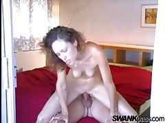 Sexy girl on top with her tight box fucking hard tubes