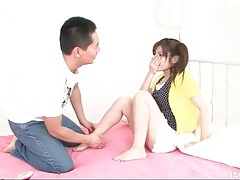 Shaving hairy pussy of a cute japanese teen tubes