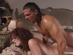 Wife with curly hair fucked in her sexy pussy tubes
