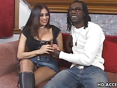 Mature milf takes on big black cock tubes