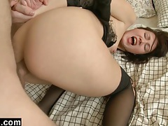 Ripping through her lacy underwear to teach her a lesson tubes