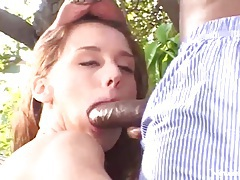Sexy wife tries hard black shaft in her pussy tubes
