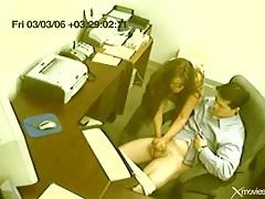 Boss gets a hot handjob at the office tubes