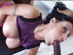Interracial threesome for slutty big tits mom tubes