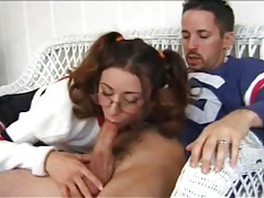 Cheerleader in glasses and pigtails ass fucked tubes