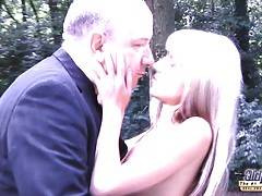 Teeny girl sex with old man to pay bills tubes