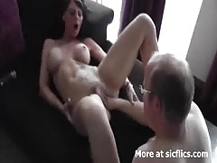Hot brunette fist fucked in her loose tattooed cunt tubes
