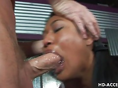 Spit soaked deepthroat bj from an asian slut tubes