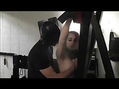 Whipping the ass of a cute bound girl tubes