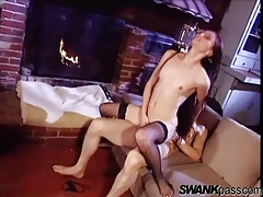 Hardcore sex with skinny fishnets girl tubes