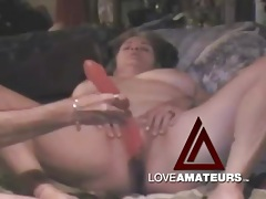 Mature wife toys her pussy and ass lustily tubes