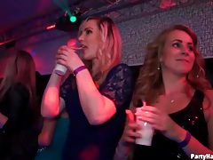 Girls in slutty dresses dance at the party tubes