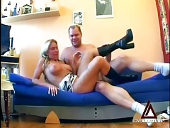 Busty blonde cocksucker in boots fucked hardcore tubes
