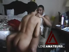Black guy and his busty girlfriend suck and fuck tubes