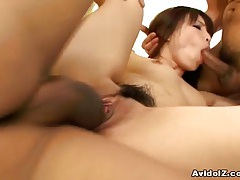 Japanese threeseome spit roasting uncensored tubes