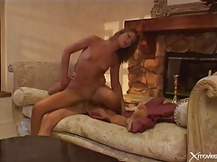 Horny brunette fucked by a big cock tubes