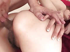 Two anal creampies with her japanese hole tubes